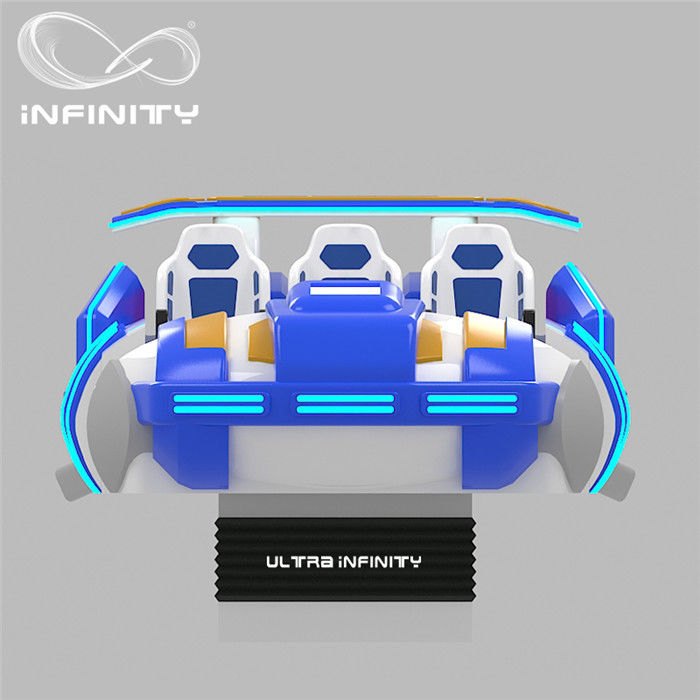 Multi - Player 9D Virtual Reality Cinema Motion Simulator Logo Customization