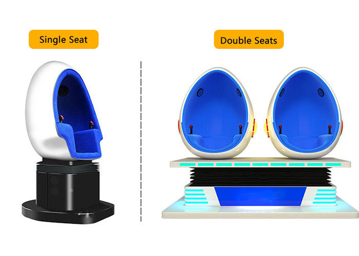 2 Person 9D Cinema Simulator / Electric System Virtual Reality Egg Chair